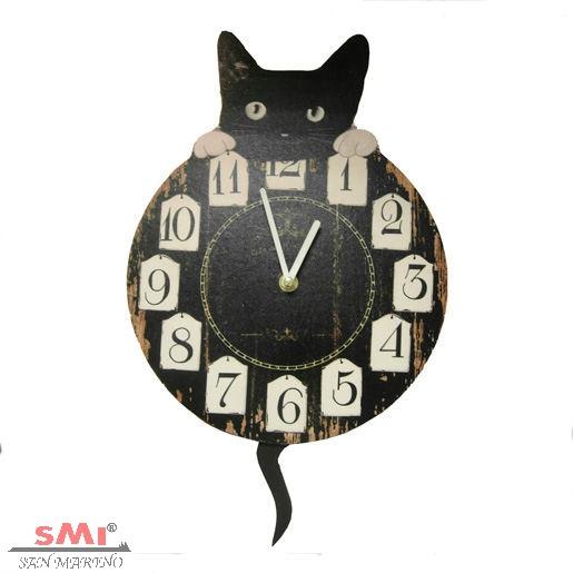 orologio gatto nero
