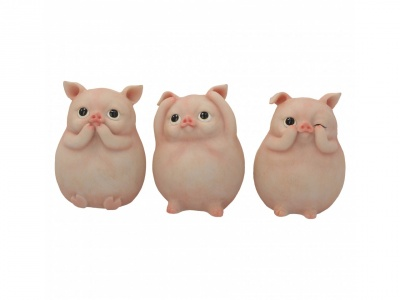 Three Wise Piggies